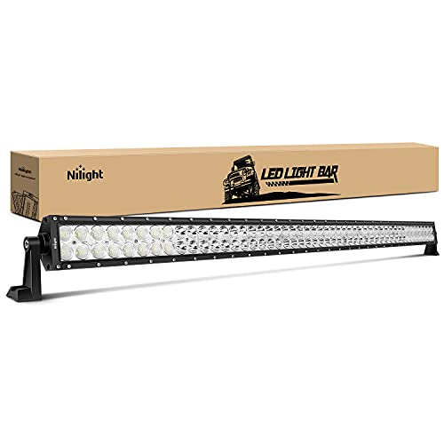 Nilight - 15026C-A LEDLight Bar52Inch 300W Spot Flood Combo LED Driving Lamp Off Road Lights LED Work Lightfor TrucksBoat Jeep Lamp,2 Years Warranty
