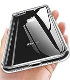 【Humixx】iPhone8 ケース iPhone7 ケース 高透明感 超クリア 日本旭硝子製 9H強化ガラス仕様 黄変防止 ハイブリッドケース ストラップホール付き 滑り止め付き[Crystal Series]
