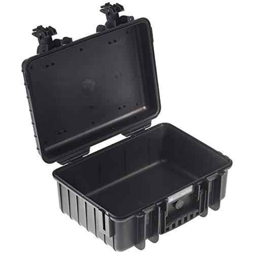B&W Transportkoffer Outdoor Typ 4000 schwarz - wasserdicht nach IP67 Zertifizierung, staubdicht, bruchsicher und unverwüstlich