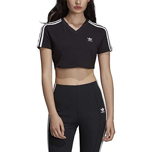 adidas Cropped tee Camiseta, Mujer, Negro (Negro), 44