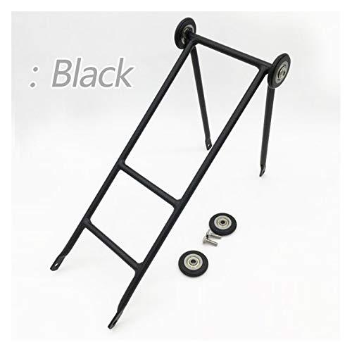 Portaequipajes de bicicleta, Racks de bicicletas traseras para bicicletas plegables de brompton bastidores de carga de empuje fácil rueda corredera de bicicleta cortante negro / plata / verde Portaequ
