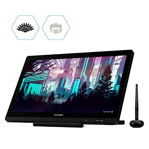 HUION Kamvas GT-191 V2 Grafiktabletts,8192 Level Batterie freier Stylus Stift Display Zeichnungs Tablette mit 19,5 Zoll 1920x1080 266 PPS IPS Bedienfeld
