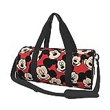 Bolsa de viaje de ocio de Mickey Minnie Mouse de dibujos animados unisex bolsos de vuelo moda gimnasio deportes entrenamiento compras hombro bolsas