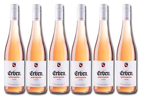 Erben Spätburgunder Rosé Trocken – Roséwein aus Deutschland – Qualitätswein – 6 x 0.75 l