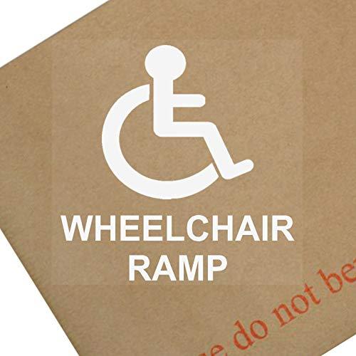 Platina Plaats 1 x Rolstoel Ramp-Window Sticker-Wit op Clear-Sign, Auto, Waarschuwing, Merk, Logo, Gehandicapten, invaliditeit, Badge, Sticker, Thuis, Huis,Plat,Winkel, Business,Toegankelijk