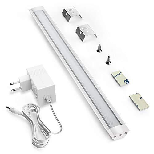 LED Unterbauleuchte, Touch Led Lichtleiste mit 33 LED und Touch Steuerung Ein / Aus,6000K Natur-weiß,4W,210lm,30cm Schreibtischlampe Led für küchenunterschrank Kabinett, Küchentheke und Werkban