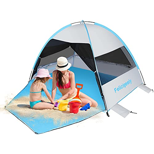 Felicigeely Large Beach Tent, Portable Sun Shelter Now $34.99