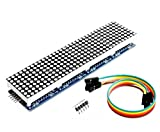 TECNOIOT MAX7219 Dot Matrix Module Microcontroller 4 In One Display 5P Line Red Color