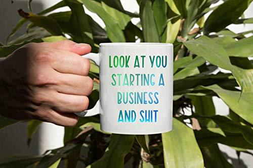 DKISEE Nuevo dueño de negocios taza de té de café comenzando un regalo empresario para divertido jefe nena