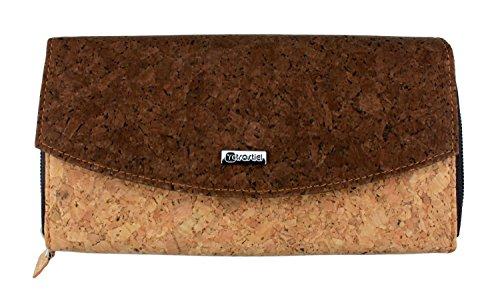 Kork Geldbörse Deluxe mit RFID Schutz, Geldbeutel aus Kork, Damengeldbörse