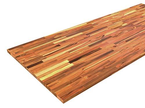 INTERBUILD REAL WOOD Panel de teca grado B/C FJ borde recto 2000x800x26mm, aceite transparente