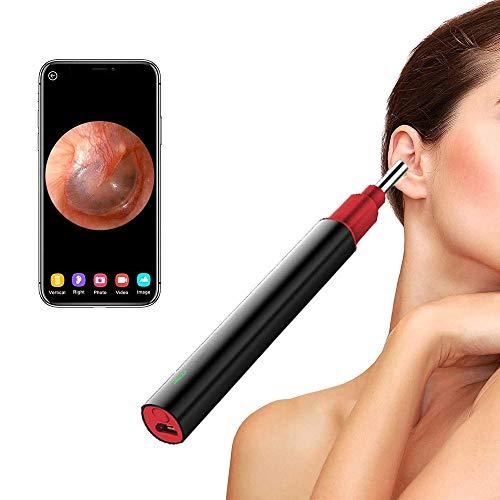 Otoscopio la telecamera wireless per portata dell'orecchio,Giroscopio a 3 assi a 6 LED e controllo della temperatura,Compatibile con smartphone e tablet Android/iOS