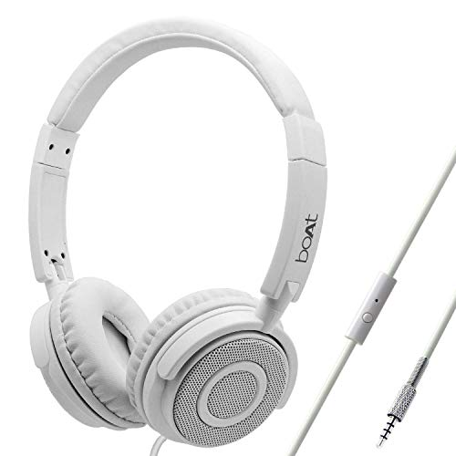 boAt Bassheads 900 On Ear Wired Headphones(Pearl White)