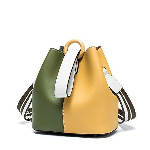 Mode contrast kleur emmer tas, PU waterdichte schoudertas, grote capaciteit messenger tas handtas, geschikt voor werk en dating partijen