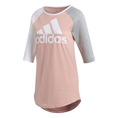 adidas Damen Sport ID Baseball T-Shirt, Trapnk, XS