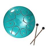 Tambores de hendidura, tambor de lengüeta de acero, tecla D de 6 pulgadas y 8 tonos, tambor de mano con baquetas, bolsa, cubierta para los dedos, instrumento de percusión para Navidad