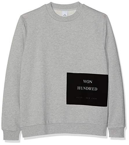 Won Hundred Herren Mateo Flock Sweatshirt, Grau (Grey Melange 8930), Medium