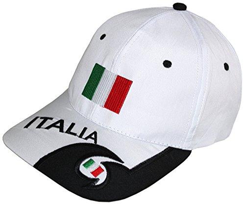 Blackshirt Company Italien Schildmütze Fußball Fan Basecap Blau Weiss Farbe Weiss