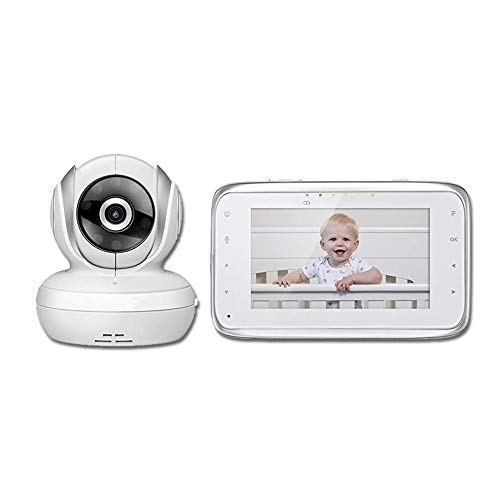 Surveillance cameras Baby Video Monitor, Multi-Function Intelligent Network, Audio Monitor with Display, Temperature/Alarm Reminder Child Monitor, White