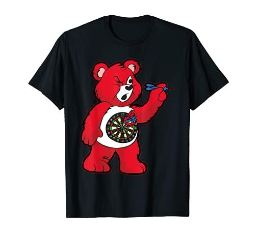 Darts T-Shirt | Teddy mit Dartpfeil 180 Dart Geschenk