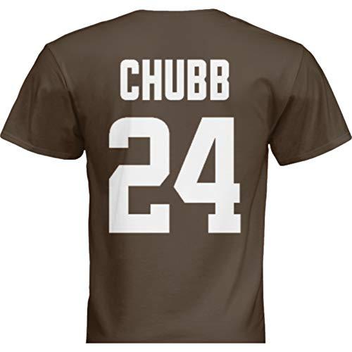 NWT New Chubb #24 Cleveland Brown Custom Screen Printed Football T-Shirt Jersey No Brands/Logos Men's (Extra Large)