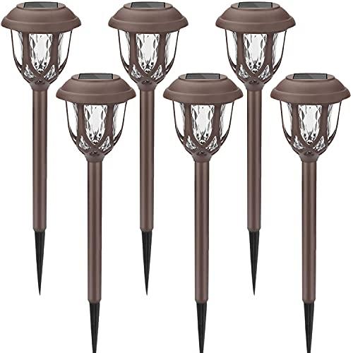 Lampada Solare da Giardino, 6 pezzi Giardino Lampade da Esterno per Prato, Led Luci Solari LED Lampade Solari Terra IP65 Impermeabile Lampade da Esterno per Passaggio Pedonale Patio Cortile Prato