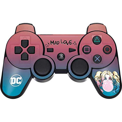 Skinit Decal Gaming Skin for PS3 Dual Shock Wireless Controller - Officially Licensed Warner Bros Harley Quinn Mad Love Design