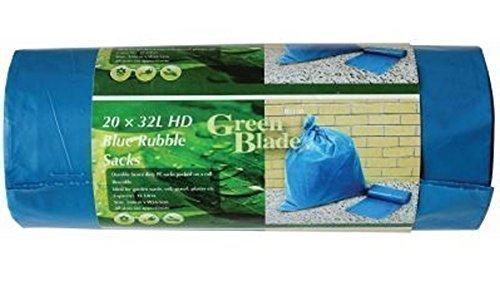 20 Résistant Durable Bleu Rubble Sacks Sacs Constructeurs Gravier Brique Sol