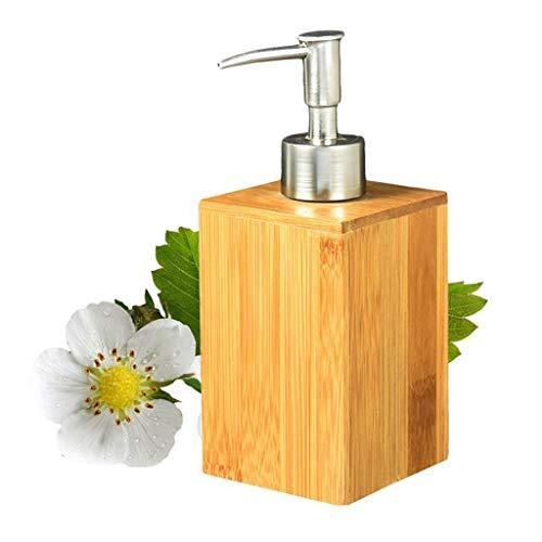XILIN-1987 Dispensador de jabón de Cocina Accesorios de baño Jabón de bambú Dispensador de loción Jabón de Mano Botella de Ducha Gel de Ducha Champú Recipiente dispensador de jabón