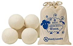Reusable Wool Dryer Balls are a gentler alternative to plastic hedgehog dryer balls as seen on TV Dryer lint balls will reduce wrinkles, lint of clothes and the need to iron your laundry All-natural, healthy chemical-free organic alternative to liqui...