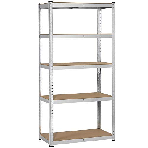 YAHEETECH Heavy Duty Steel Garage Shelving Utility Storage Rack Adjustable Boltless 5-Shelf Shelving Unit Space Saver Display Stand 71 inches Height