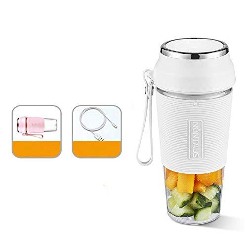 MHBYExprimidor portátil recargable 400 ml, exprimidor eléctrico, mini taza de jugo de cocina, adecuado para el hogar, la oficina, los deportes, los viajes, al aire libre, 75 * 75 * 190 mm.