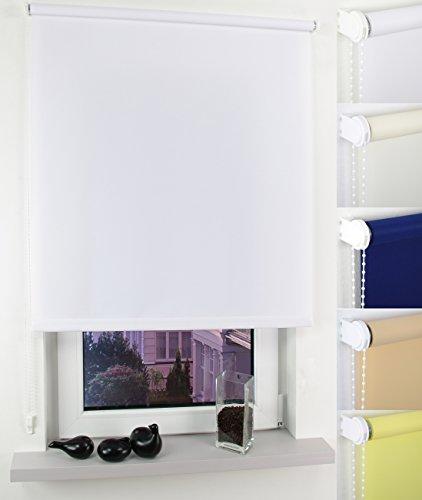 Garduna Easy Tageslicht-Rollo # beige 82cm # viele Farben & Größen - Sichtschutz - lichtdurchlässig - klassisches Seitenzugrollo mit Kettenzug