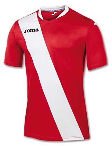Joma 100158.602 - Camiseta de equipación de Manga Corta para Hombre, Color Rojo/Blanco, Talla 4XS-3XS