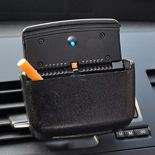 Brilliant Classy and Luxurious Design Car Ashtray Universal Home Auto Car Air Outlet Ashtray Multiuse LED Cigarette Smoke Remover Best CAR Ashtray (Color : Black)