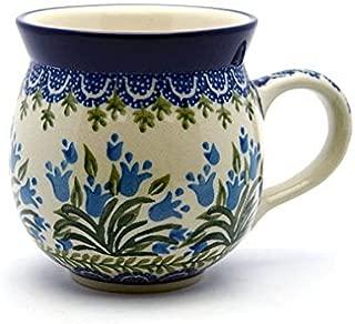 Polish Pottery Mug - 11 oz. Bubble - Blue Bells