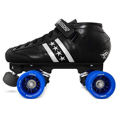 Bont Roller Skates   LowCut Quadstar Speed Skating   Roller Skates   Indoor and Outdoor   100% Leather   Youth - Boys - Girls - Men - Women (40/7.5)