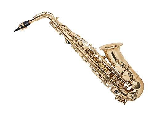 Eb Alto Saxophone Gold Lacquer Finish, Pad Saver, Neck Strap
