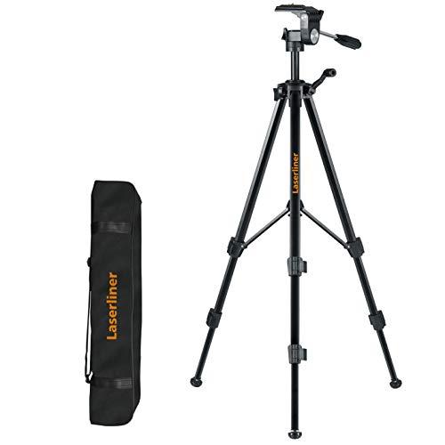 LASERLINER - Trépied type photo pour télémètres lasers – Idéal pour laser avec filetage ¼ pouces - 150cm - Hauteur Réglable - Pivote à 360°