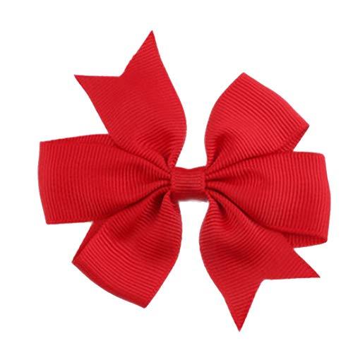 Demarkt Niedlich Schleife Haarclips/Haarspangen Haarschmuck Ribbon Haar-Clips Für Mädchen,Rot