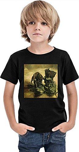 Un par de zapatos Van Gogh Painting Camiseta para niños, Negro, 8-9 años