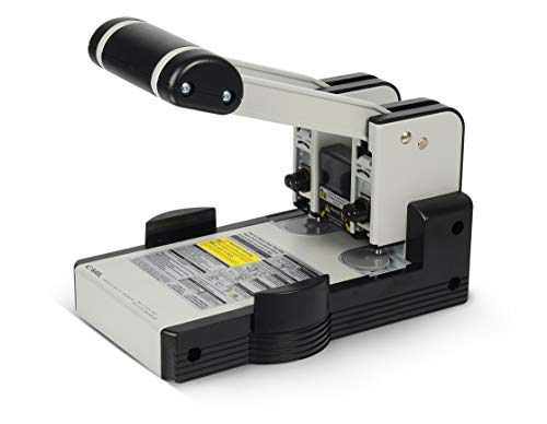 Carl MFG Heavy-Duty Punch, 2-Hole, 6mm, 100 Sheet Capacity, Silver/Blue (CUI62100)