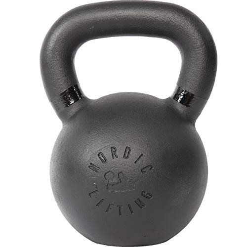 Nordic Lifting Kettlebell Made for Crossfit & Gym Workouts - Real Cast Iron for Strength Training 48 lb