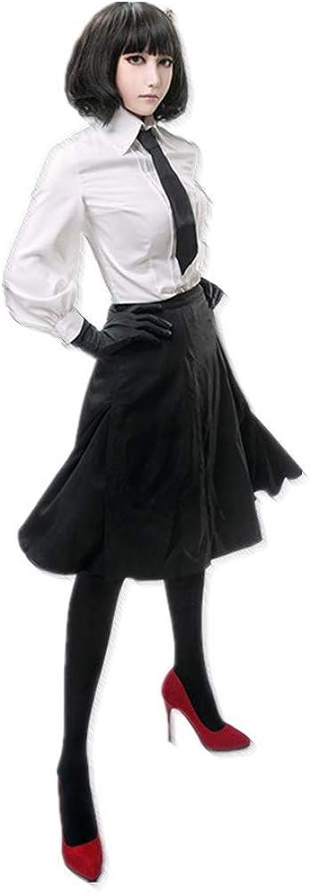CHANGL Costume Cosplay Carnevale di Halloween Bungo Cani randagi Akiko Yosano JK Abito da Scuola Uniforme Giornaliero Abiti con Accessori Parrucca Opzionale