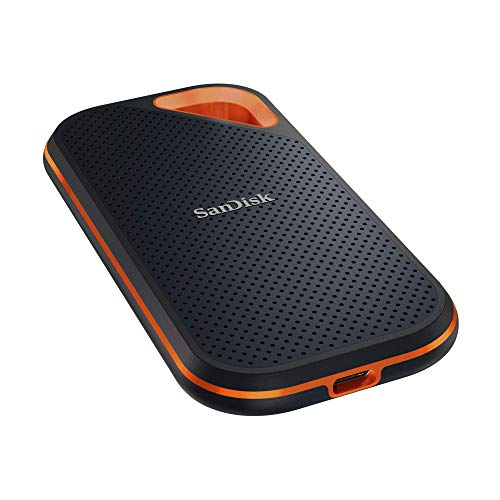 SanDisk Extreme Pro Portable SSD externe SSD 2 TB (externe Festplatte mit SSD Technologie 2,5 Zoll, 1.000 MB/s Lesen, NVMe SSD, IP55) grau