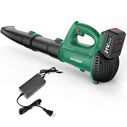 HUYOSEN Handheld Lightweight Electric Cordless Leaf Blower Variable Speed for Lawn Care or Blowing Leaf/Snow