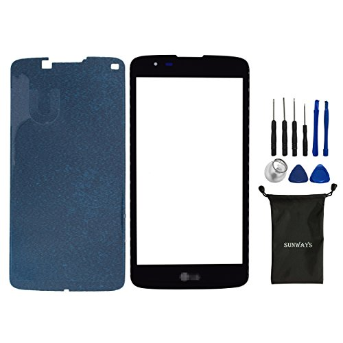 New Front Outer Screen Glass Panel Lens Replacement for LG Tribute 5 K7 MS330 LS675 With Pre-cut Frame Tape&OCA Tape