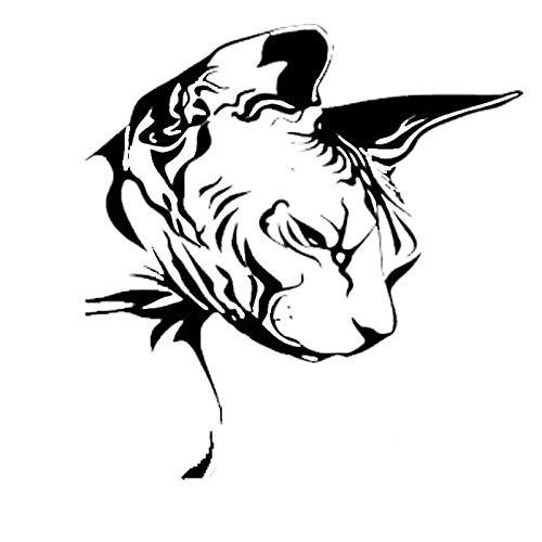 BLOUR Dawasaru Sphynx Katze Tier Auto Aufkleber Personalisierte Sonnencreme Aufkleber Laptop Motorräder Auto Zubehör Dekoration PVC, 16cm * 15cm