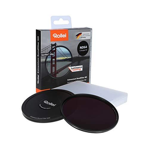 Rollei Extremium Round Filter ND64 Stopper 62 mm - Filtro de densidad neutra con anillo de titanio de vidrio Gorilla con revestimiento especial - ND64 (6 paradas / 1,8)