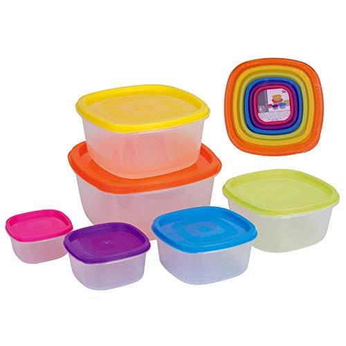 Excellent Houseware Lebensmittelbehälter, Kunststoff, 6 Stück, für Mikrowelle und Gefrierschrank geeignet